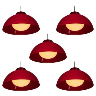 """Set of Five """"KD 6"""" Pendant Lamps by Castiglioni for Kartell For Sale"""