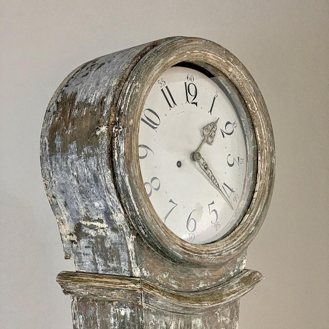 Metal 19th Century Swedish Long Case Clock For Sale - Image 7 of 13