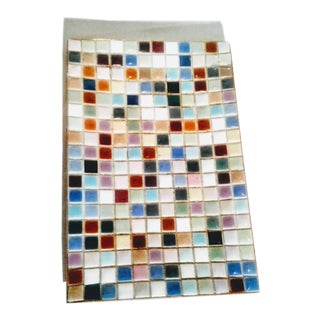 Vintage Multi-Colored Tile Tray For Sale