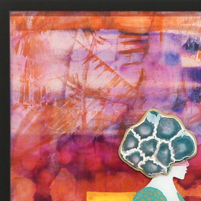 """Giuseppe Beddru """"Donna Viola"""" Contemporary Painting For Sale - Image 4 of 8"""