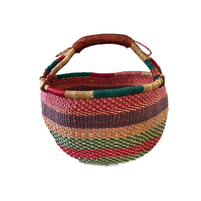 Large African Bolga Ghana Market Basket For Sale In New York - Image 6 of 6