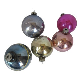 Christmas Ornaments Shiny Brite - S/5 For Sale