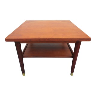 Mid 20th Century Walnut Side or Coffee Table For Sale