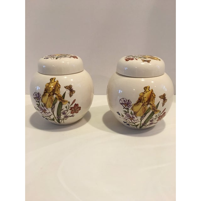 1950s Pair of English Vintage Mason Ginger Jars For Sale - Image 5 of 5