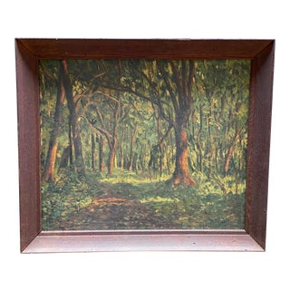 The Woods Painting by Alma Hanna Wappingers Falls New York For Sale