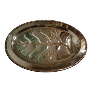 1950s Silver Plate Platter For Sale