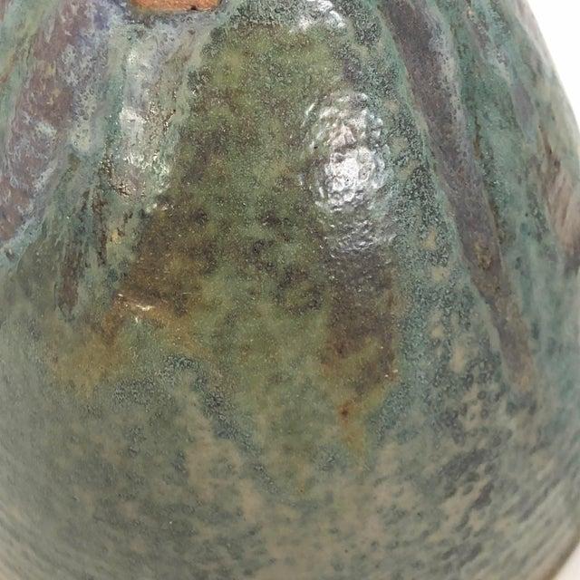 Late 20th Century Vintage Glazed Studio Pottery Vase For Sale - Image 9 of 13
