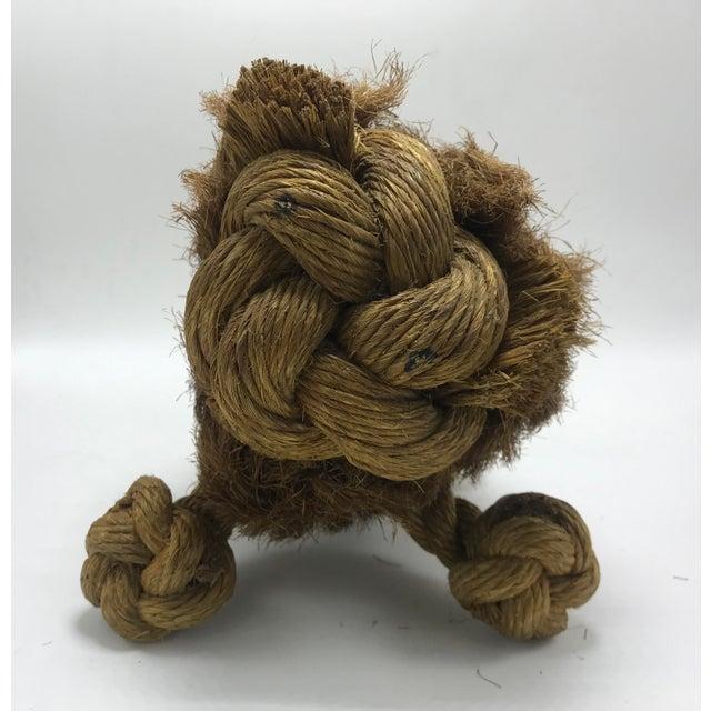 Rare Mid-Century Danish Braided Rope/Jute Lion. This is a very rare example of Danish toy designer Kay Bohese. The braided...