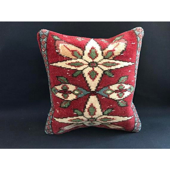 Colorful Turkish Wool Bohemian Pillow Cover For Sale - Image 11 of 11