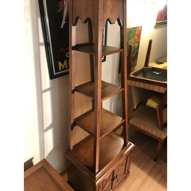 Drexel Heritage Drexel Heritage A-Frame Shelf Tower Display Shelf For Sale - Image 4 of 5
