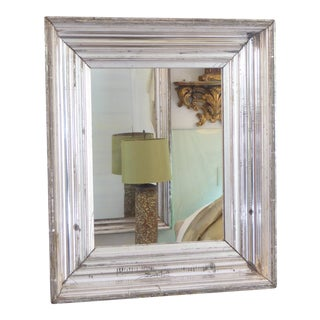 19th Century Traditional Silver Leaf Accent Mirror For Sale