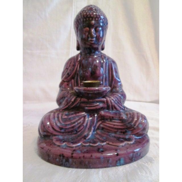 Mid-Century Dripglaze Ceramic Buddha Incense - Image 2 of 9