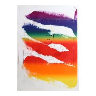 "Paul Jenkins, ""Sri Chinmoy"", Abstract Screenprint"