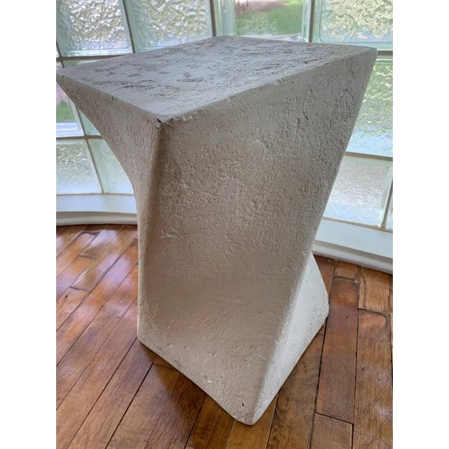 Postmodern 1970s Sculptural Plaster Pedestal For Sale - Image 3 of 5