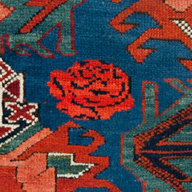 """Traditional Antique Seyhur Carpet - 3'6"""" x 9'6"""" For Sale - Image 3 of 4"""