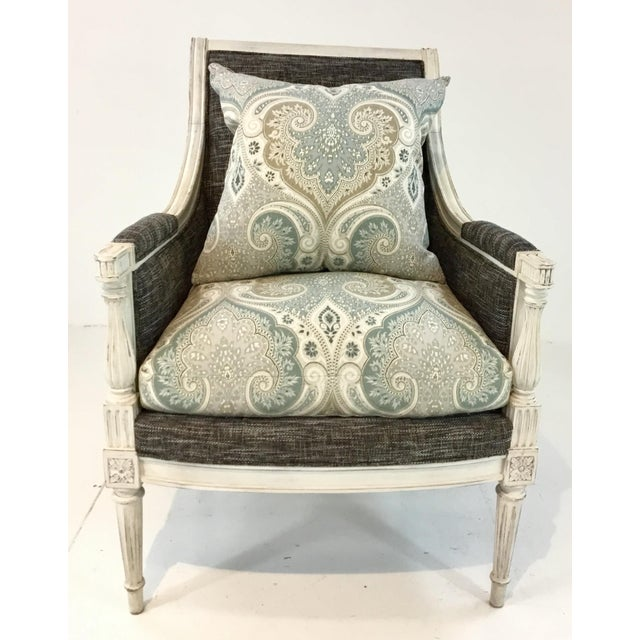 Fabric Hickory Chair French Inspired Lucien Chair For Sale - Image 7 of 7