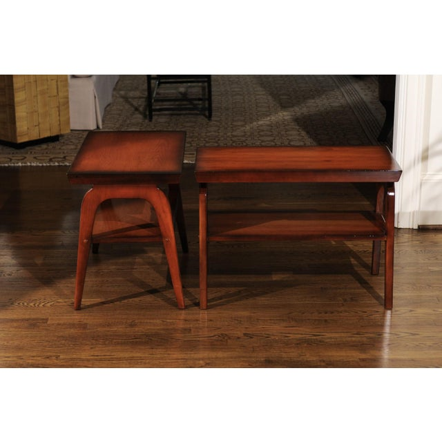 1954 Restored Pair of End Tables by John Wisner for Ficks Reed For Sale - Image 12 of 13