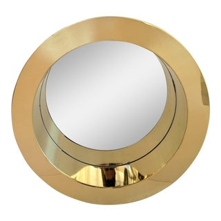 C. Jere Brass Porthole Wall Mirror, Signed, 1976