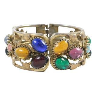 Multi-Color Cabochon Bracelet For Sale