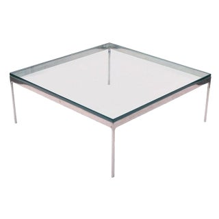 Zographos Square Stainless Steel Coffee Table For Sale