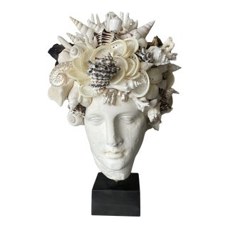"""""""Mellow Hygiea"""" Contemporary Shell-Encrusted Head For Sale"""