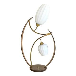 Vintage Large Danish Modern Bentwood Flower Lamp MCM For Sale