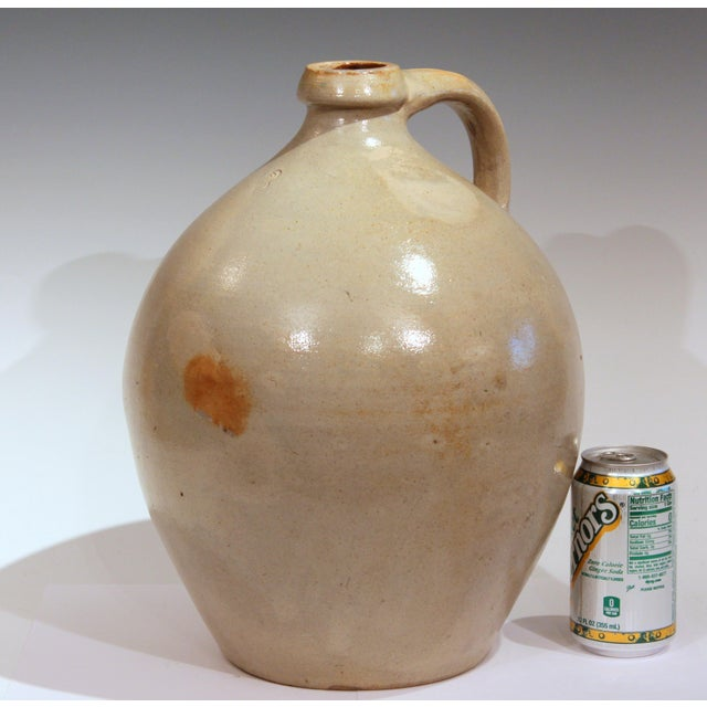 Stoneware Jug Ovoid Antique Early 19th Century 3 Gallon Moonshine Country New England For Sale - Image 12 of 13