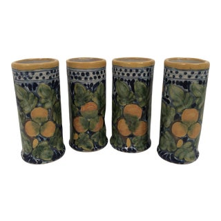Mexican Shot Glasses or Bud Vases - Set of 4 For Sale