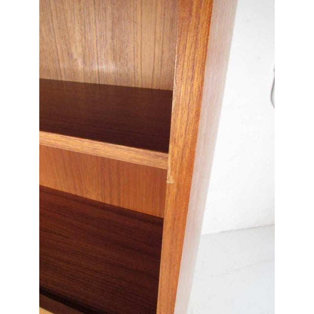 Scandinavian Modern Teak Drop Front Secretary Desk For Sale - Image 10 of 13