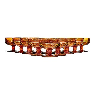 1960s Amber King's Crown Low Coupes - Set of 15