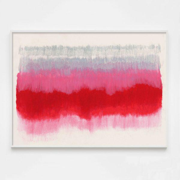 """Contemporary """"ColorCake (Grey, Pink, Red)"""" Unframed Print For Sale - Image 3 of 3"""