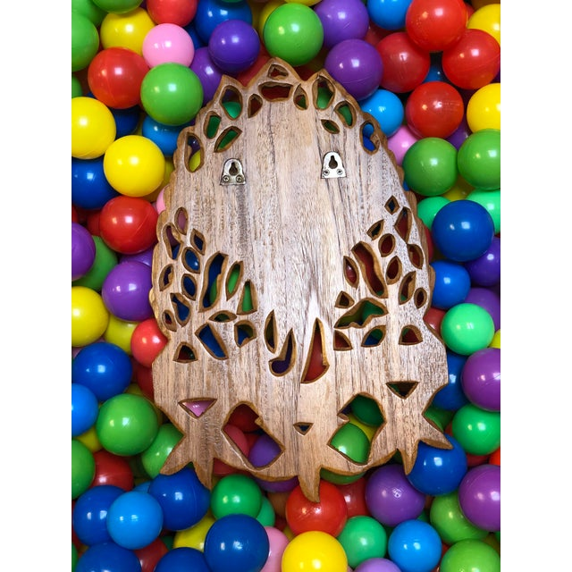 1970s 1970s Boho Chic Wooden Sting Ray Coat Rack For Sale - Image 5 of 6
