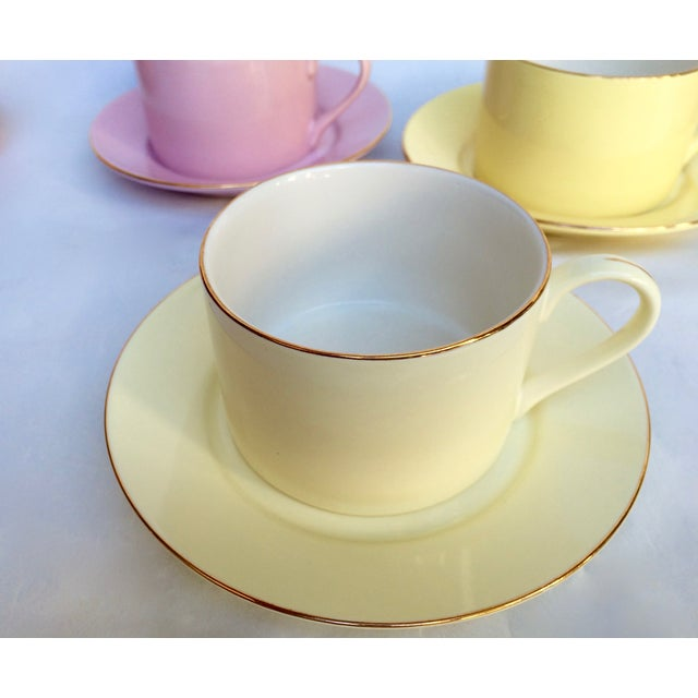 Sherbet-Hued Teacups & Saucers - Set of 6 - Image 3 of 10