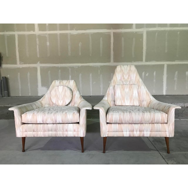 Mid-Century Modern 20th Century Mid Century Modern Attributed to Ben Seibel Model Deceiver His & Hers Lounge Chairs - a Pair For Sale - Image 3 of 13