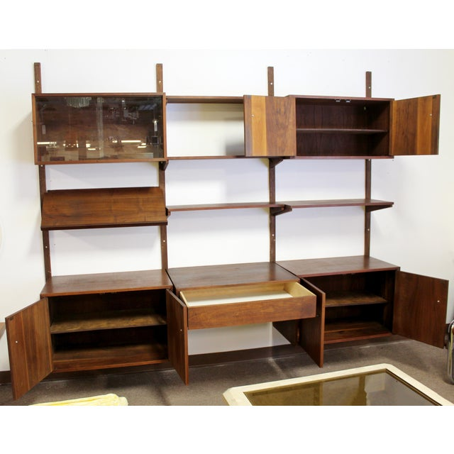 Wood Mid Century Modern Danish Cado Walnut Wall Unit by Poul Cadovious For Sale - Image 7 of 8