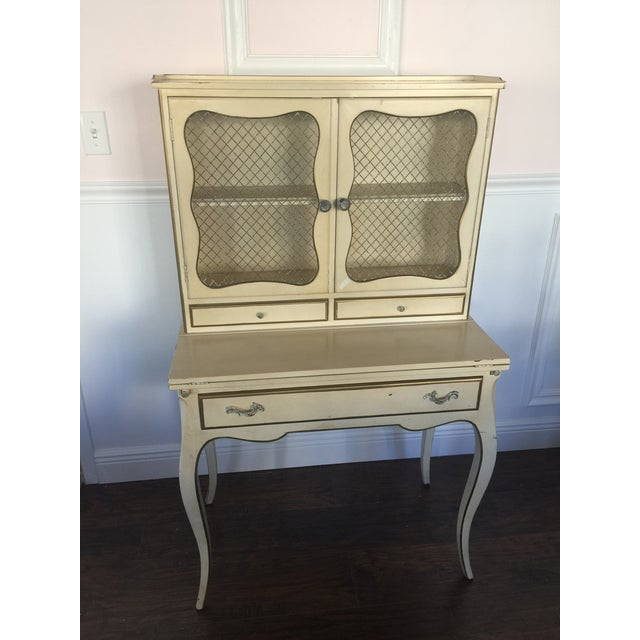 French Provincial Secretary Desk With Mesh Doors - Image 2 of 11