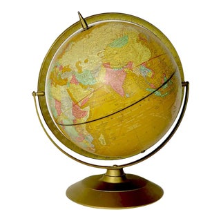 1950s Cram World Globe with Meridian Band For Sale