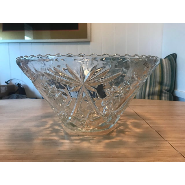 Abstract Expressionism Anchor Hocking Star of David Punch Bowl Set For Sale - Image 3 of 10