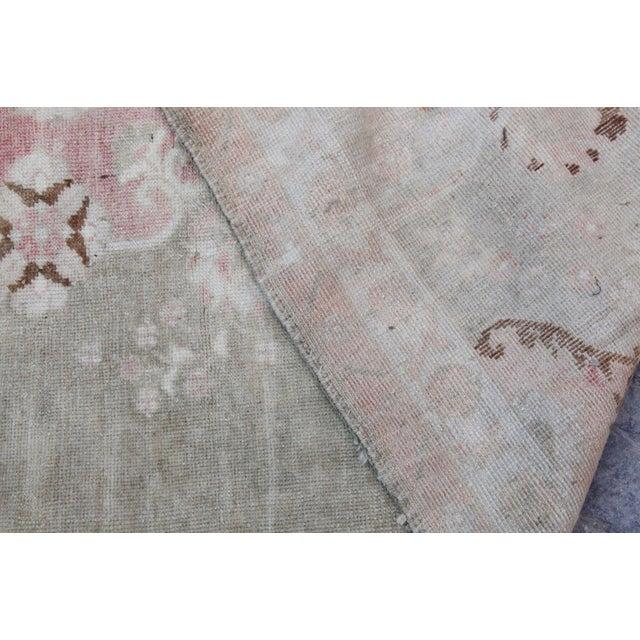 "Vintage Muted Turkish Oriental Rug Carpet - 10'11"" x 6'7"" - Image 10 of 10"