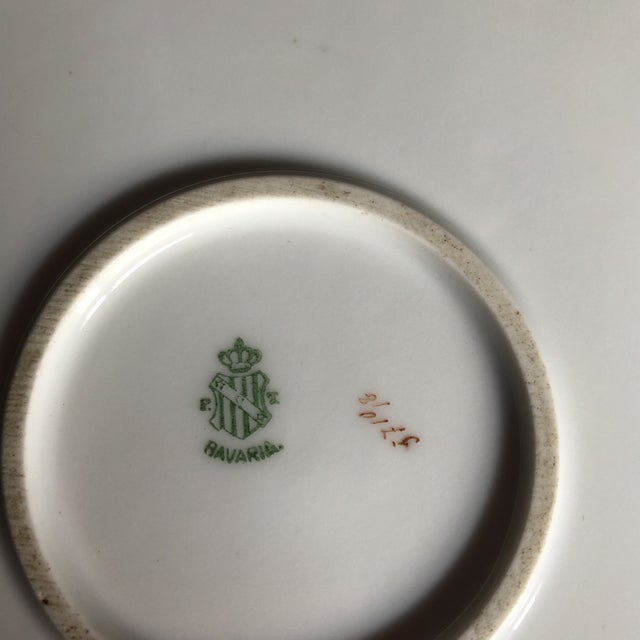 Vintage Hand Painted and Signed Vintage Bavarian Charger Plate For Sale - Image 10 of 13