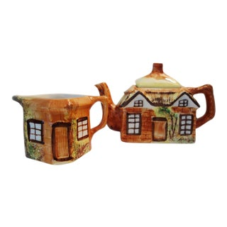 Vintage Price Kensington Cottage Ware Teapot and Creamer- 2 Pieces For Sale