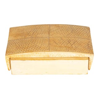 French Modernist Snake Skin, Elm & Parchment Box by R&Y Augousti For Sale