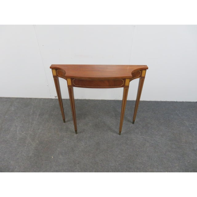 Hepplewhite Style Console Table For Sale - Image 4 of 7