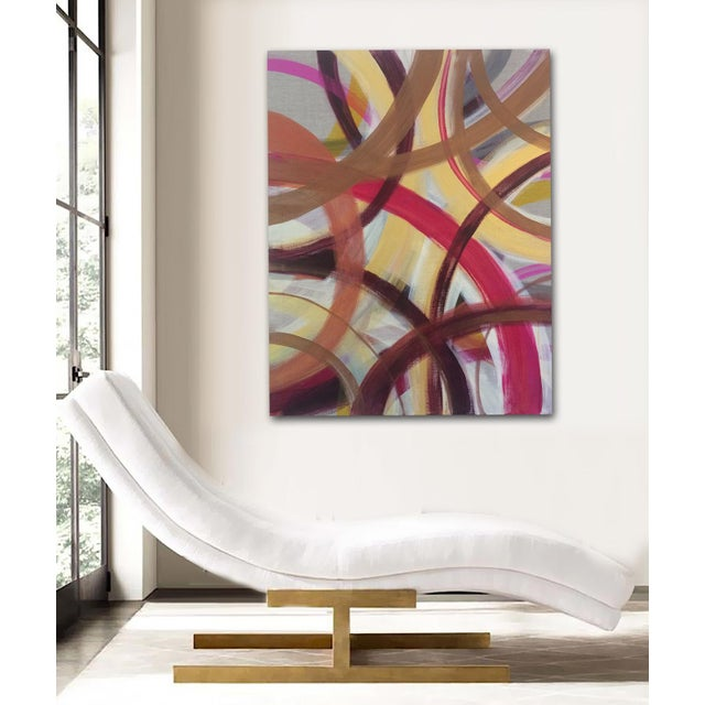 'AUTUMN' original abstract painting by Linnea Heide - Image 3 of 7