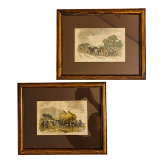 19th Century Framed Illustrated London News Pastoral Prints - a Pair For Sale