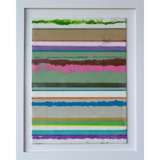 "Original Encaustic Mixed Media Painting by Gina Cochran ""Confections No. 34"" - Stripes For Sale"