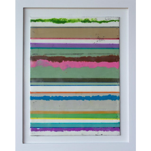 """Original Encaustic Mixed Media Painting by Gina Cochran """"Confections No. 34"""" - Stripes For Sale"""