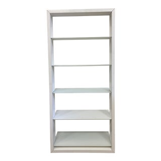 Bdi Furniture Eileen Blanc White Leaning Bookcase For Sale