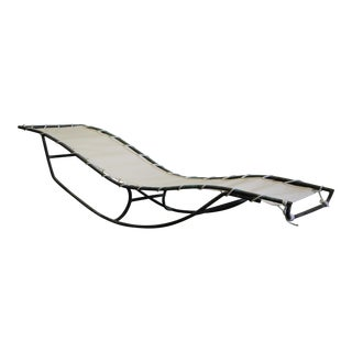 Early Walter Lamb Bronze Rocking Chaise For Sale