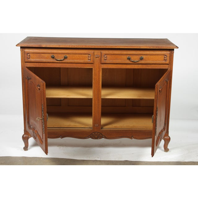 Brown Mid-Century Louis XV-Style Buffet For Sale - Image 8 of 12